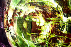 Abstract painting structure. Modern art - details structure painting green Stock Photography