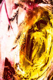 Abstract painting structure. Modern art - details structure painting orange Royalty Free Stock Photo