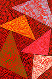 Abstract painting with triangles Stock Images