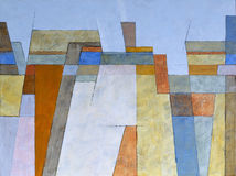 An abstract painting, an urban skyline Royalty Free Stock Photo