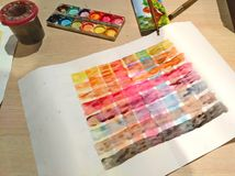 Painting with Watercolor Paint. Abstract Painting by Watercolor Paint on paper stock images