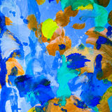 Abstract painting with wet colors, pattern, wallpaper Stock Photography