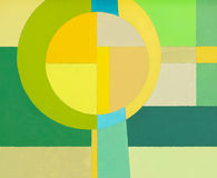 An abstract painting, yellow and green. Royalty Free Stock Images
