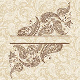 Abstract paisley  background. Abstract background with paisley elements Royalty Free Stock Images