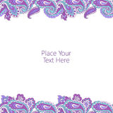 Abstract paisley border Royalty Free Stock Photos