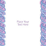 Abstract paisley border Royalty Free Stock Images