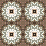Abstract paisley brown ornament. Seamless pattern kaleidoscopic Stock Image