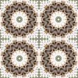 Abstract paisley brown white ornament. Seamless pattern kaleidos Royalty Free Stock Photos