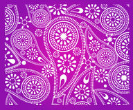 Abstract paisley flower background. Stock Photo