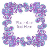 Abstract paisley frame Stock Photography