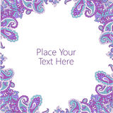 Abstract paisley frame Royalty Free Stock Images