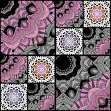 Abstract paisley ornament. Seamless pattern kaleidoscopic orient Royalty Free Stock Images