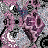 Abstract paisley ornament. Seamless pattern kaleidoscopic orient Royalty Free Stock Photography