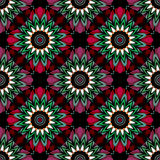 Abstract paisley ornament. Seamless pattern kaleidoscopic orient Stock Photography