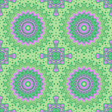Abstract paisley ornament. Seamless pattern kaleidoscopic style Stock Image