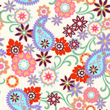 Abstract paisley seamless background Stock Image