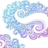 Abstract Paisley Sketchy Notebook Doodles Stock Photography