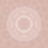 Abstract Pale Card with Round Label Royalty Free Stock Photo