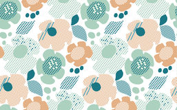 Abstract pale color floral seamless pattern. Stock Images