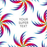 Abstract palm leafs with spectrum gradient. Text frame. Summer style. Vector illustration. Stock Photo