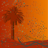 Abstract palm tree background Stock Image