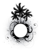Abstract with palm trees Royalty Free Stock Images