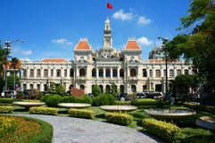 Abstract panaroma of people's Committee of Ho Chi Minh city Stock Images