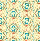 Abstract panda cartoon pattern Royalty Free Stock Image
