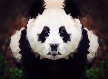 Abstract Panda laag polybehang Royalty-vrije Stock Fotografie