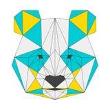 Abstract panda  on white background. Polygonal triangle geometric illustration Stock Photo