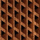 Abstract paneling blocks stacked for seamless background. Wooden surface Royalty Free Stock Photography