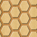 Abstract paneling pattern - Decorative hexagonal grid Stock Photo