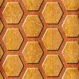 Abstract paneling pattern - Decorative hexagonal grid Stock Image