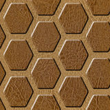 Abstract paneling pattern - Decorative hexagonal grid Stock Photos