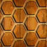 Abstract paneling pattern - Decorative hexagonal grid Stock Images