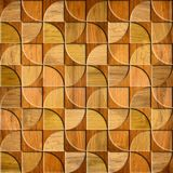 Abstract paneling pattern - Interior wall decor - wood surface Stock Photos