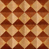 Abstract paneling pattern - pyramidal pattern - Carpathian Elm Stock Image