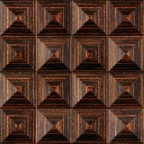 Abstract paneling pattern - pyramidal pattern, Ebony wood texture Royalty Free Stock Photos
