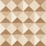Abstract paneling pattern - pyramidal pattern - White Oak wood Royalty Free Stock Images