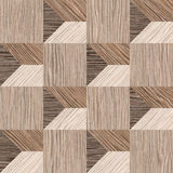 Abstract paneling pattern - seamless background - Blasted Oak Royalty Free Stock Image