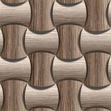 Abstract paneling pattern - seamless background - Blasted Oak Stock Image