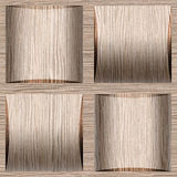 Abstract paneling pattern - seamless background - Blasted Oak Royalty Free Stock Photos