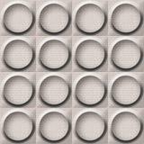 Abstract paneling pattern - seamless background - button pattern. Decorative pattern Stock Image