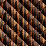 Abstract paneling pattern - seamless background - Ebony wood Stock Photos