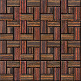 Abstract paneling pattern - seamless background - Ebony wood Royalty Free Stock Image