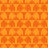 Abstract paneling pattern - seamless background - hipster symbol. Tangerine texture Royalty Free Stock Images