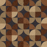 Abstract paneling pattern - seamless background - leather textur Stock Photography