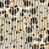 Abstract paneling pattern - seamless background - oil paper Stock Images