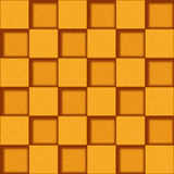 Abstract paneling pattern - seamless background - orange texture Royalty Free Stock Photography