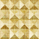 Abstract paneling pattern - seamless background - pyramidal patt. Ern - papyrus surface Royalty Free Stock Images